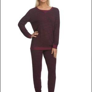 Felina Women's 2 Piece French Terry Pajama Set